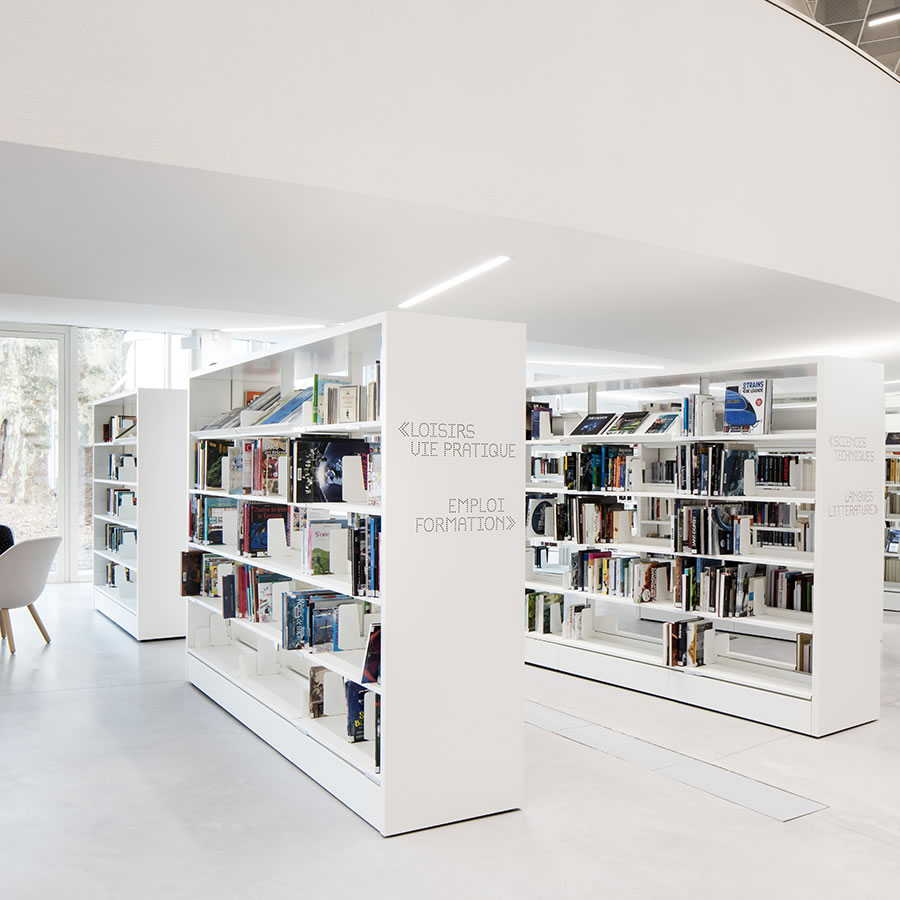 IDM Library - Mediathèque La Source - Rayonnage