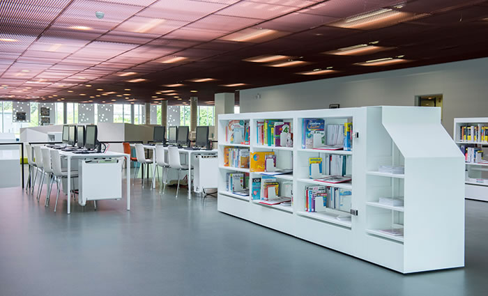 IDM Library - Médiathèque Carvin King Kong - Rayonnage rangement livres