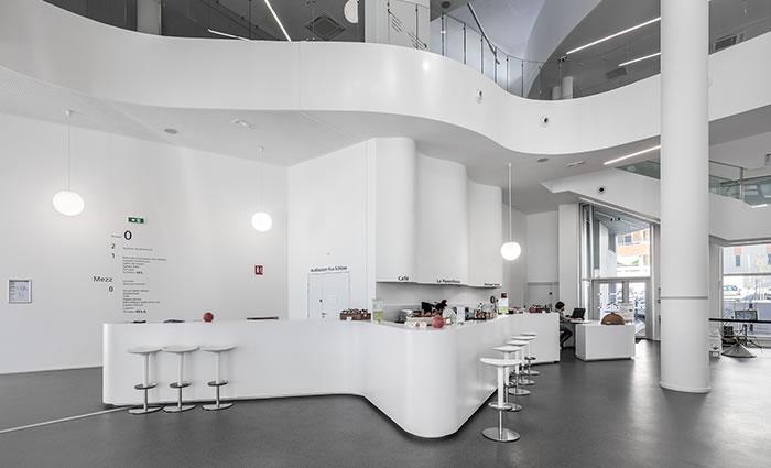IDM Library - Médiathèque La passerelle Vitrolles - Bar Tabouret Mobilier Confort