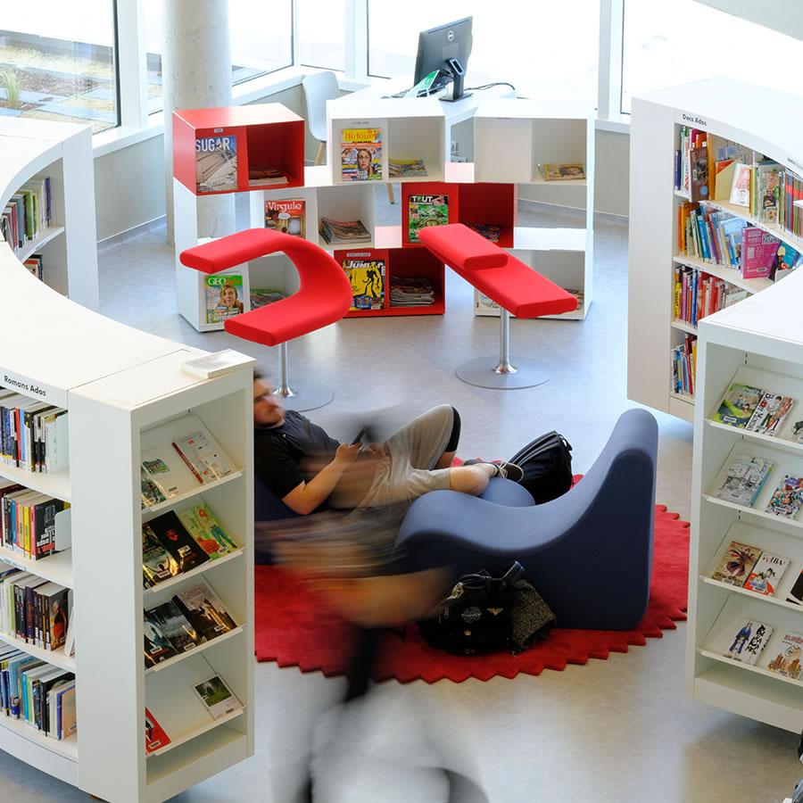 IDM Library - Mediathèque Le mix Mourens - Espace lecture