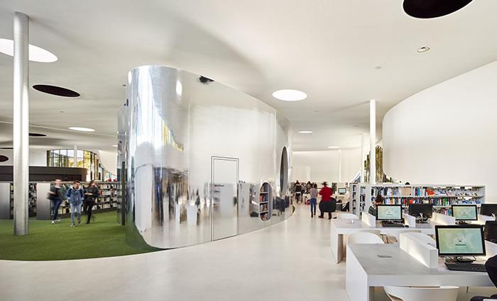 IDM Library - Médiathèque Puzzle - Aménagement espace