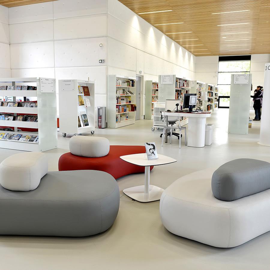 IDM Library - Mediathèque Victor Jara Couëron - Espace lecture
