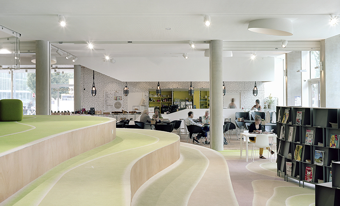 Espace restauration médiathèque Dunkerque